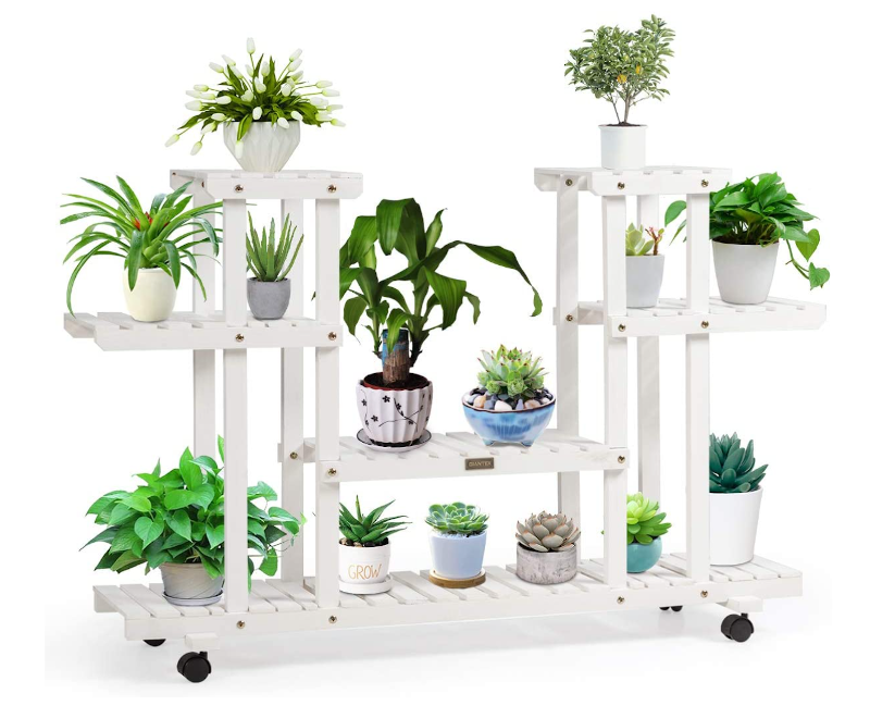 tall plant stands with wheels